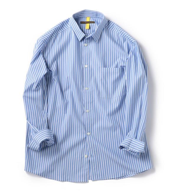 【シップス/SHIPS】 BENCH MARKING SHIRTS: レギュラーカラー ストライプ シャツ
