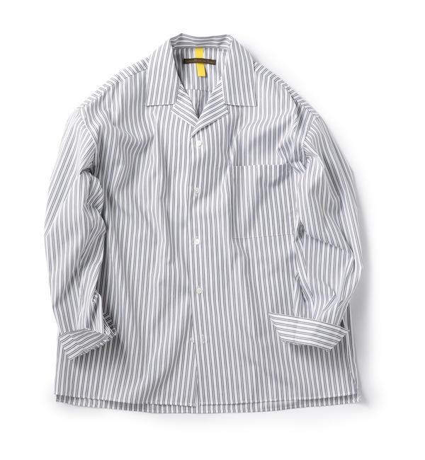 【シップス/SHIPS】 BENCH MARKING SHIRTS: オープンカラー ストライプ シャツ