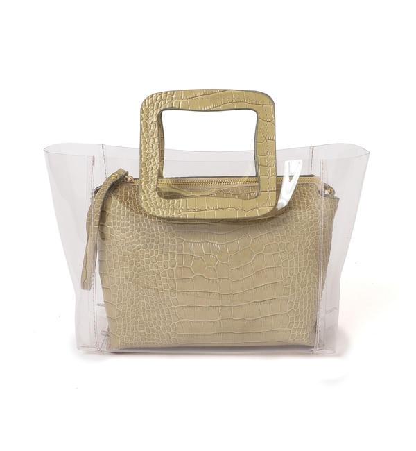 【シップス/SHIPS】 ANITA BILARDI :2WAY PVCバッグ