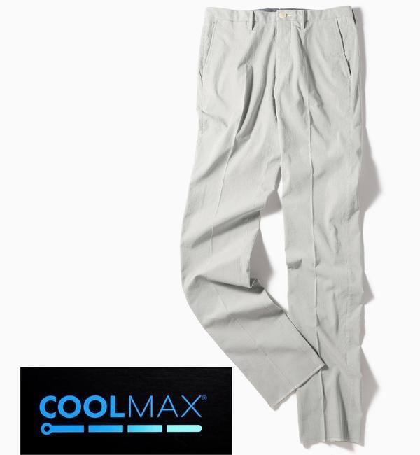 【シップス/SHIPS】 SC: COOLMAX(R) コードレーン ノープリーツ パンツ