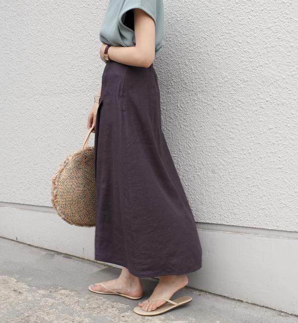 【シップス/SHIPS】 【手洗い可能】ステッチデザインフレアスカート◇