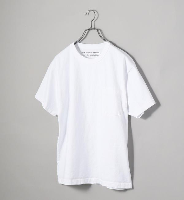 【シップス/SHIPS】 Los Angeles Apparel×SHIPS JET BLUE: 別注 ヘビーウエイト ポケットTシャツ