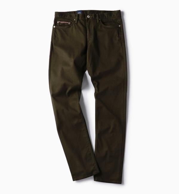 【シップス/SHIPS】 SC:オイカワデニム製 カラー セルビッチ 5ポケット パンツ