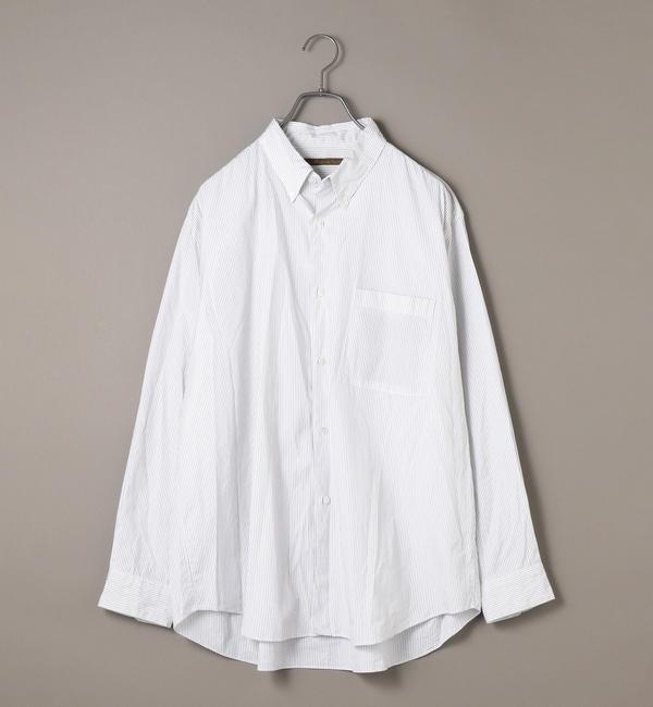 【シップス/SHIPS】 BENCH MARKING SHIRTS: ビッグシルエット ブロード ボタンダウン シャツ