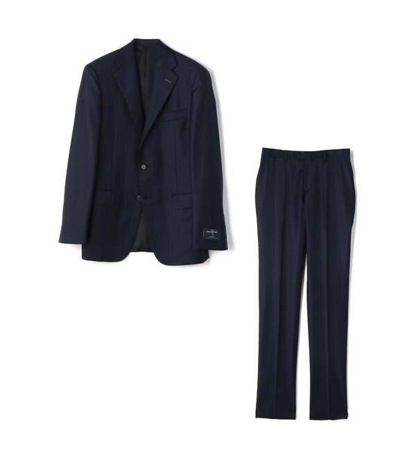 【シップス/SHIPS】 SD: エルメネジルド ゼニア トラベラー ネイビー ソリッド スーツ