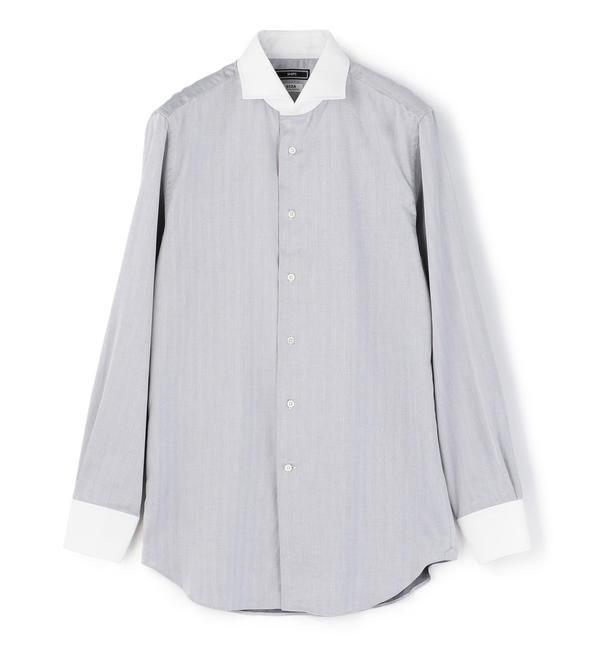 【シップス/SHIPS】 SD: クレリック へリン ホリゾンタルカラー シャツ