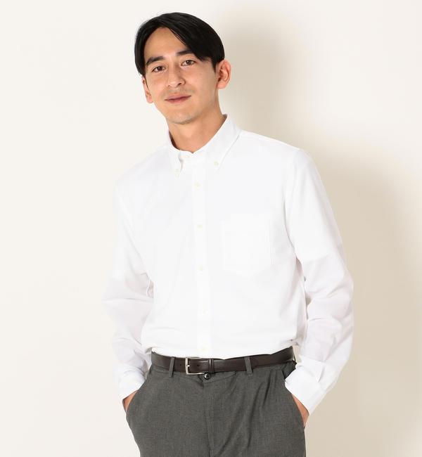 【シップス/SHIPS】 SHIPS any: ジャージー ボタンダウン ドレス ビジネス シャツ