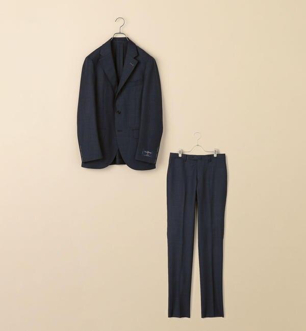 【シップス/SHIPS】 SD: エルメネジルド ゼニア トロピカル ネイビー グレンチェック スーツ