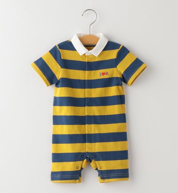 【シップス/SHIPS】 SHIPS KIDS:ラガーシャツ ロンパース