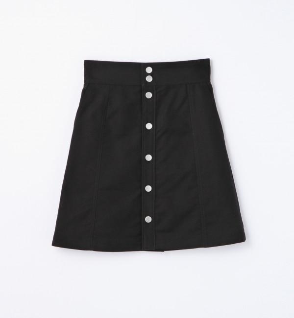 【トゥモローランド/TOMORROWLAND】 コットンモールスキン フロントボタンスカート [送料無料]