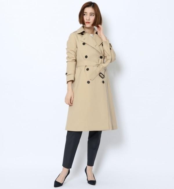 【トゥモローランド/TOMORROWLAND】 ウールサージ トレンチコート [送料無料]