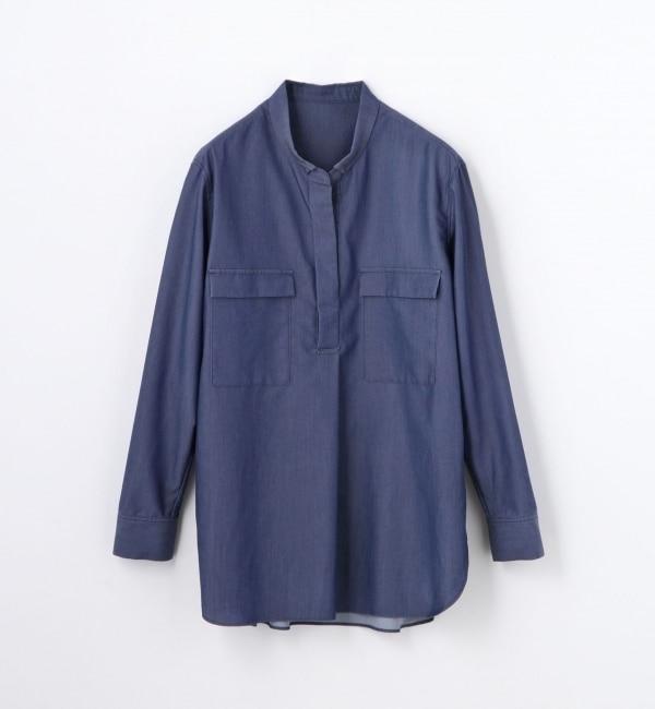 【トゥモローランド/TOMORROWLAND】 テンセルシャンブレー オーバーシャツ [送料無料]
