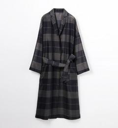 【トゥモローランド/TOMORROWLAND】 シアーチェック ロングチェスターコート [送料無料]