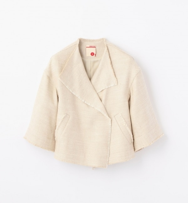 【トゥモローランド/TOMORROWLAND】 シルクリネンツイード ショートジャケット [送料無料]