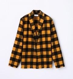 【トゥモローランド/TOMORROWLAND】 シャギーチェック ショールカラージャケット [送料無料]