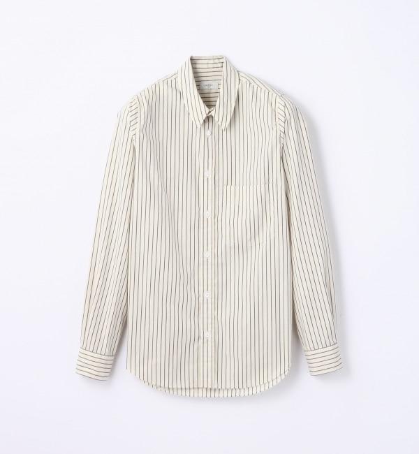 【トゥモローランド/TOMORROWLAND】 ワークストライプ レギュラーカラーシャツ [送料無料]