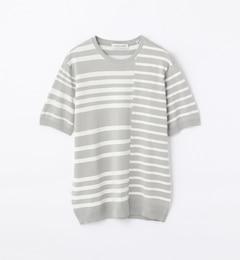【トゥモローランド/TOMORROWLAND】 マルチストライプ ニットTシャツ [送料無料]