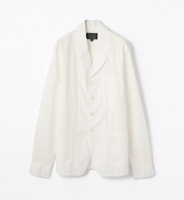【トゥモローランド/TOMORROWLAND】 コットン シアサッカーシャツジャケット [送料無料]
