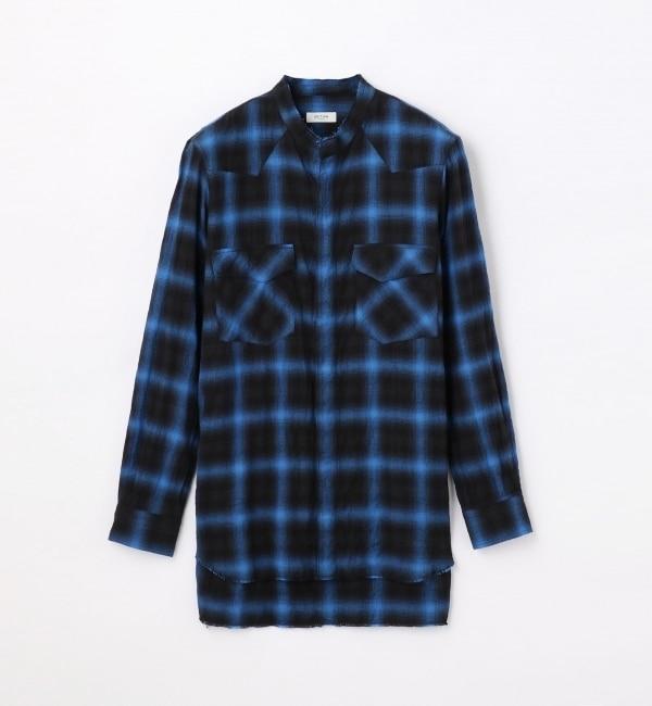 【トゥモローランド/TOMORROWLAND】 コットンポリウレタン ノーカラーシャツ [送料無料]