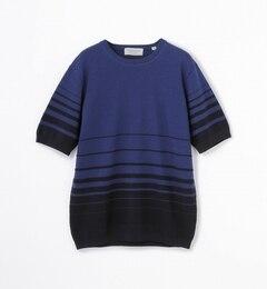 【トゥモローランド/TOMORROWLAND】グラデーションボーダーニットTシャツ[送料無料]