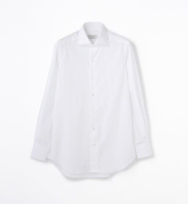【トゥモローランド/TOMORROWLAND】 140/2コットンブロード ワイドカラー ドレスシャツ