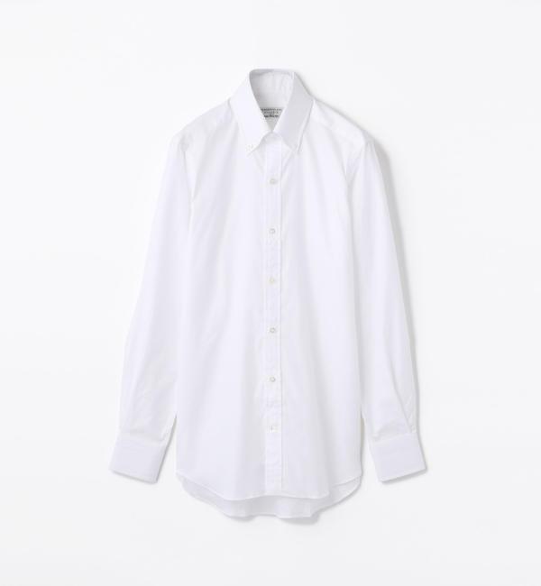 【トゥモローランド/TOMORROWLAND】 140/2コットンロイヤルオックスフォード ボタンダウン ドレスシャツ NEW BD-4