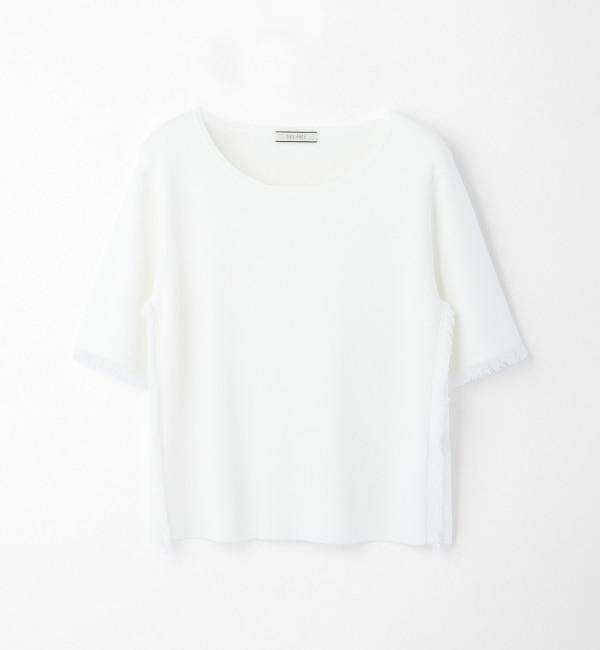 【トゥモローランド/TOMORROWLAND】 レーヨンナイロン ハーフスリーブプルオーバー [送料無料]