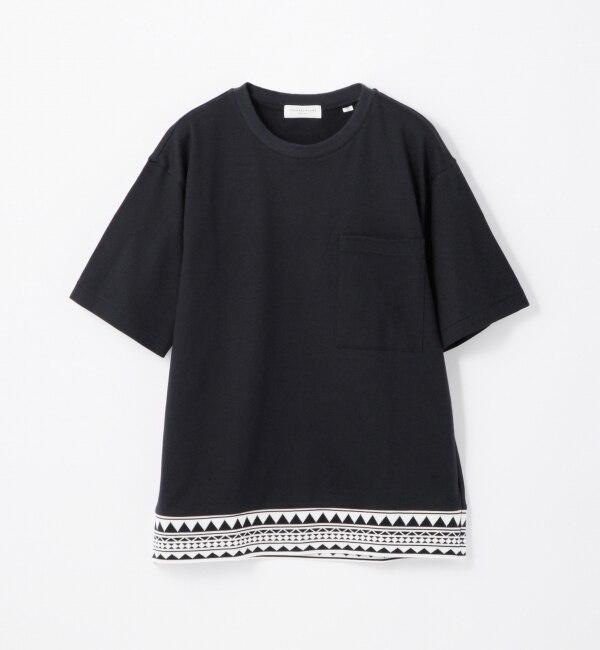 【トゥモローランド/TOMORROWLAND】 トライバルジャカードコンビ ポケットTシャツ [送料無料]