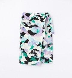 【トゥモローランド/TOMORROWLAND】水彩プリントラップタイトスカート[送料無料]