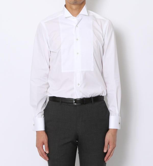 【トゥモローランド/TOMORROWLAND】 140/2コットンブロード ウィングカラー ドレスシャツ