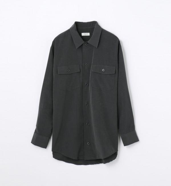 【トゥモローランド/TOMORROWLAND】 シルキーリライム ビッグシャツ [送料無料]