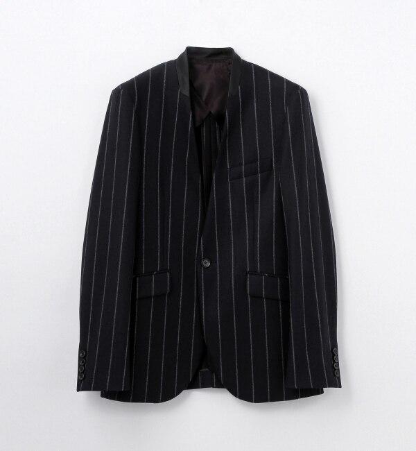 【トゥモローランド/TOMORROWLAND】 ウールフランネル ノーカラージャケット [NOCOL JK] [送料無料]