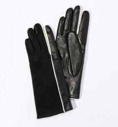 【トゥモローランド/TOMORROWLAND】 Gala Gloves ラムレザー スエードコンビグローブ [送料無料]