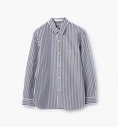 【トゥモローランド/TOMORROWLAND】コットンブロードストライプレギュラーシャツ[送料無料]