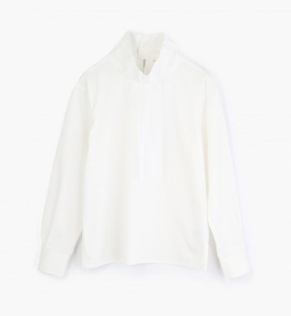【トゥモローランド/TOMORROWLAND】 コットンサテン スタンドカラーシャツ [送料無料]
