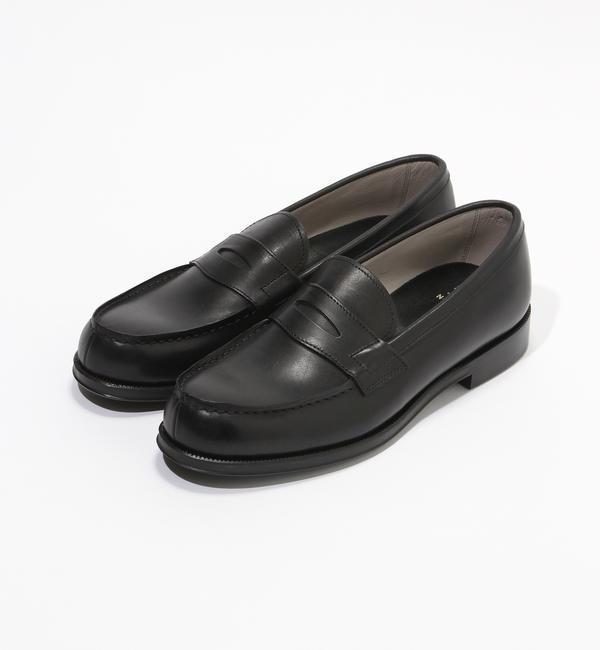【別注】FOOTSTOCK ORIGINALS×TOMORROWLAND LOAFER ローファー【トゥモローランド/TOMORROWLAND メンズ ローファー ブラック ルミネ LUMINE】