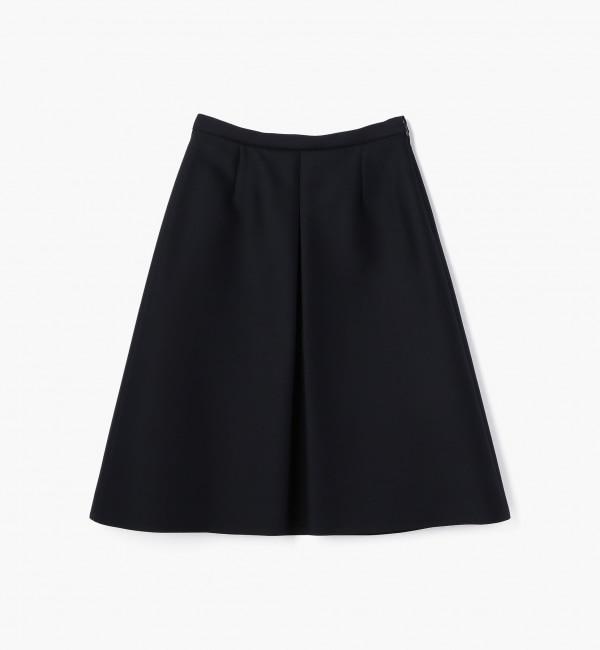 【トゥモローランド/TOMORROWLAND】 ウールシルクツイル ボックスプリーツスカート [送料無料]