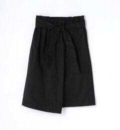 【トゥモローランド/TOMORROWLAND】コットンツイルベルテッドギャザースカート[送料無料]