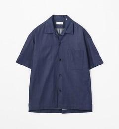 【トゥモローランド/TOMORROWLAND】80/2インディゴオープンカラーショートスリーブシャツ[送料無料]