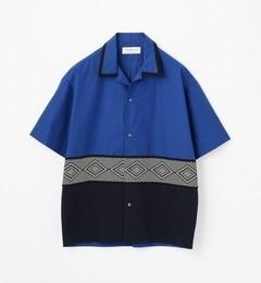 【トゥモローランド/TOMORROWLAND】ニットコンビオープンカラーショートスリーブシャツ[送料無料]