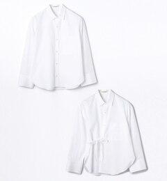 【トゥモローランド/TOMORROWLAND】コットンブロード2-wayカシュクールシャツ[送料無料]