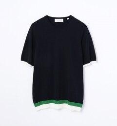 【トゥモローランド/TOMORROWLAND】ヘムカラーニットTシャツ[送料無料]