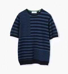【トゥモローランド/TOMORROWLAND】 パズルストライプ ニットTシャツ [送料無料]
