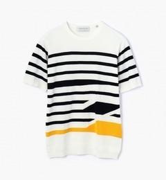 【トゥモローランド/TOMORROWLAND】マリンストライプニットTシャツ[送料無料]