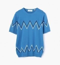 【トゥモローランド/TOMORROWLAND】ジグザグドットニットTシャツ[送料無料]