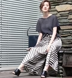 【トゥモローランド/TOMORROWLAND】 トライバルプリント ベルテッドガウチョパンツ [送料無料]