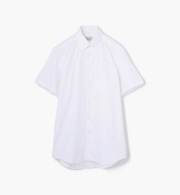 【トゥモローランド/TOMORROWLAND】 100/2ロイヤルオックスフォード ボタンダウンショートスリーブシャツ [送料無料]