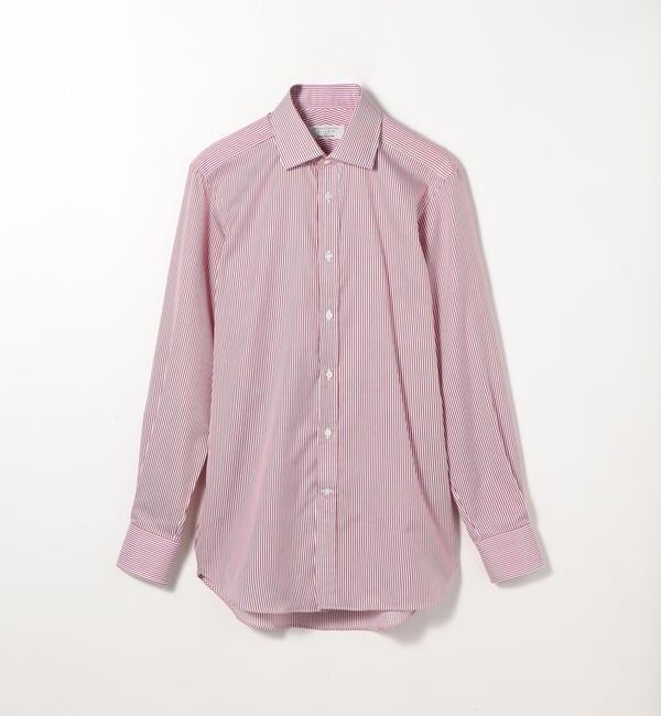 【トゥモローランド/TOMORROWLAND】 120/2コットンストライプ ワイドカラードレスシャツ NEW WIDE-3