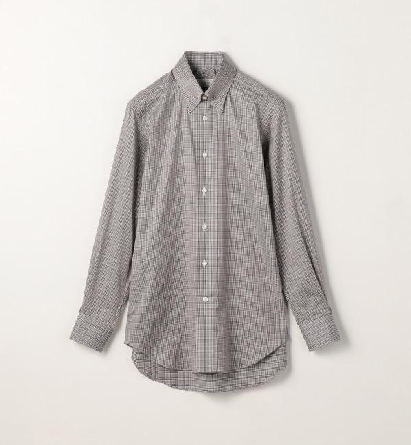 【トゥモローランド/TOMORROWLAND】 120/2コットングレンチェック ピンホールカラードレスシャツ PIN HOLE