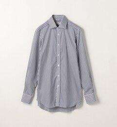 【トゥモローランド/TOMORROWLAND】 120/2コットンストライプ ワイドカラードレスシャツ NEW WIDE-3 [送料無料]